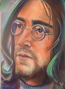 Beatles Pastels Metal Prints - John Lennon Metal Print by Mark Anthony
