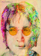 80s Digital Art Framed Prints - John Lennon Framed Print by Mark Ashkenazi