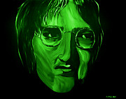 Silver Moonlight Posters - John Lennon Poster by Mark Moore