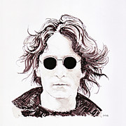 John Lennon Print by Martin Howard