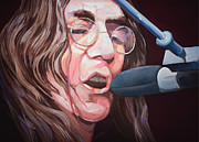 Musicians Painting Originals - John Lennon by Merv Scoble