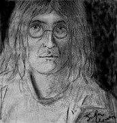 John Lennon  Drawings - John Lennon Number 9 by Rodger Larson