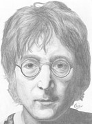 John Lennon  Drawings Metal Prints - John Lennon Metal Print by Olivia Schiermeyer