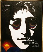 John Lennon Painting Originals - John Lennon Original by Alex Bogdan