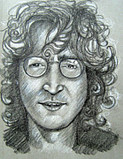 Ringo Drawings - John Lennon by Patrice Torrillo