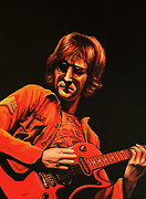 George Harrison Painting Metal Prints - John Lennon Metal Print by Paul  Meijering