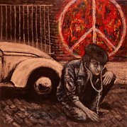 The 60s Paintings - John Lennon.. Peace by Karen White