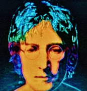 Beatles Mixed Media - JOHN LENNON   Pop Art by Gunter  Hortz