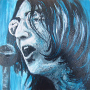 The 60s Paintings - John Lennon portrait  by Karen White