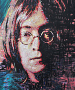 John Lennon Painting Originals - John Lennon Portrait two by Erick Nogueda