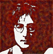 Beatles Digital Art - John Lennon by Riccardo Zullian