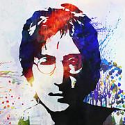 John Lennon Stencil Portrait Print by Pixel Chimp
