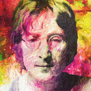 George Harrison Paintings - John Lennon by Taylan Soyturk
