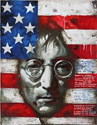 Pop Stars Painting Originals - John Lennon -The man of peace by Vitaliy Shcherbak