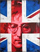 Songwriter Painting Originals - John Lennon -The man of peace.The number one by Vitaliy Shcherbak