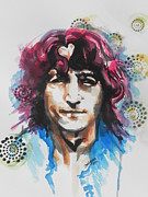 Rock And Roll Painting Originals - John Lennon...Two by Chrisann Ellis