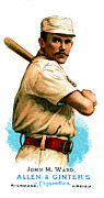 Baseball Bat Posters - John M Ward Poster by Unknown