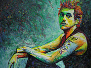 Lead Singer Painting Metal Prints - John Mayer Metal Print by Joshua Morton
