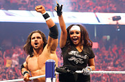 Wrestlemania Framed Prints - John Morrison and Snooki Framed Print by Wrestling Photos