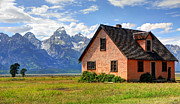 Pioneer Park Prints - John Moulton Home Grand Teton National Park Print by Gary Whitton
