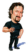 Caricatures Painting Prints - John Paul Tremblay as Julian Print by Art