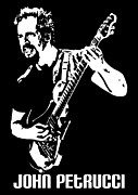 Player Digital Art Posters - John Petrucci No.01 Poster by Caio Caldas