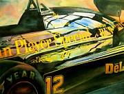 Grand Prix Framed Prints - John Player Special Framed Print by Robert Hooper