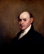 Political Figures Posters - John Quincy Adams Poster by Gilbert Stuart