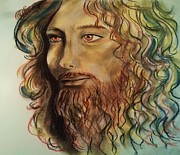 Bible Drawings - John The Baptist by Esther Rowden