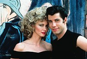 Musical Film Framed Prints - John Travolta with Olivia Newton-John Framed Print by Sanely Great
