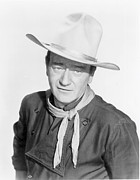 Actress Digital Art Framed Prints - John Wayne Framed Print by Sanely Great