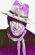 John Wayne Mixed Media - John Wayne in The Man Who Shot Liberty Valance by Art Cinema Gallery