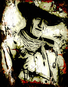 Award Winner Framed Prints - John Wayne Framed Print by Jack Zulli