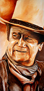 John Wayne Paintings - John Wayne by Jake Stapleton