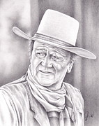 John Wayne Drawings Metal Prints - John Wayne Metal Print by Jamie Warkentin