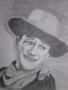 Kathy Marrs Chandler Art - John Wayne by Kathy Marrs Chandler
