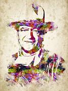 John Wayne Portrait Print by Aged Pixel