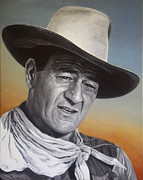 John Wayne Paintings - John Wayne by Stu Braks