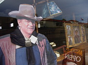 Homage Posters - John Wayne Tall in the Saddle homage 1944 cardboard cut-out  Tombstone Arizona 2004 Poster by David Lee Guss