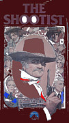 Shootist Prints - John Wayne The Shootist Amsel art work Print by David Lee Guss