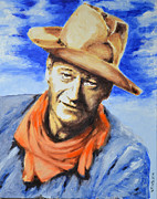 John Wayne Print by Victor Minca