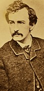 Mustache Photo Prints - John Wilkes Booth Print by Anonymous