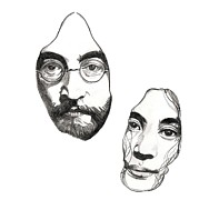 John Lennon  Drawings - Johnandyoko by Melvyn Thomas