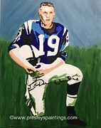 Sports Legends Paintings - Johnn U by Lisa Martin