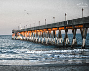 Johnnie Digital Art Prints - Johnnie Mercer Pier Print by Marie Kirschner