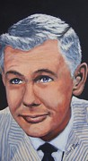 Icon Paintings - Johnny Carson by Shirl Theis