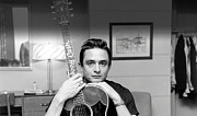 Music Posters - Johnny Cash and his Guitar Poster by Sanely Great