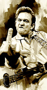 Johnny Cash Artwork 2 Print by Sheraz A
