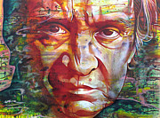 Famous Painting Prints - Johnny Cash Print by Joshua Morton