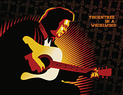 Sassan Filsoof Framed Prints - Johnny Cash Thorntree in a Whirlwind Framed Print by Sassan Filsoof